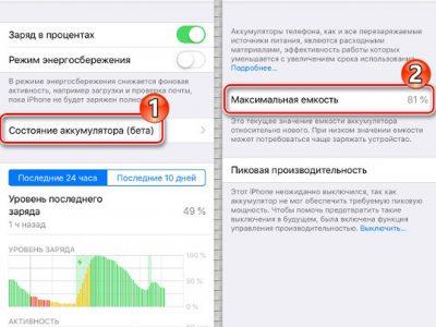 Нужно срочно менять аккумулятор на iPhone 6.